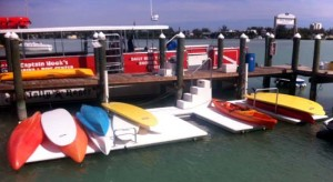 Accudock water sports packages include easy to use Kayak and Paddleboard docks and supports for getting on and off your gear!